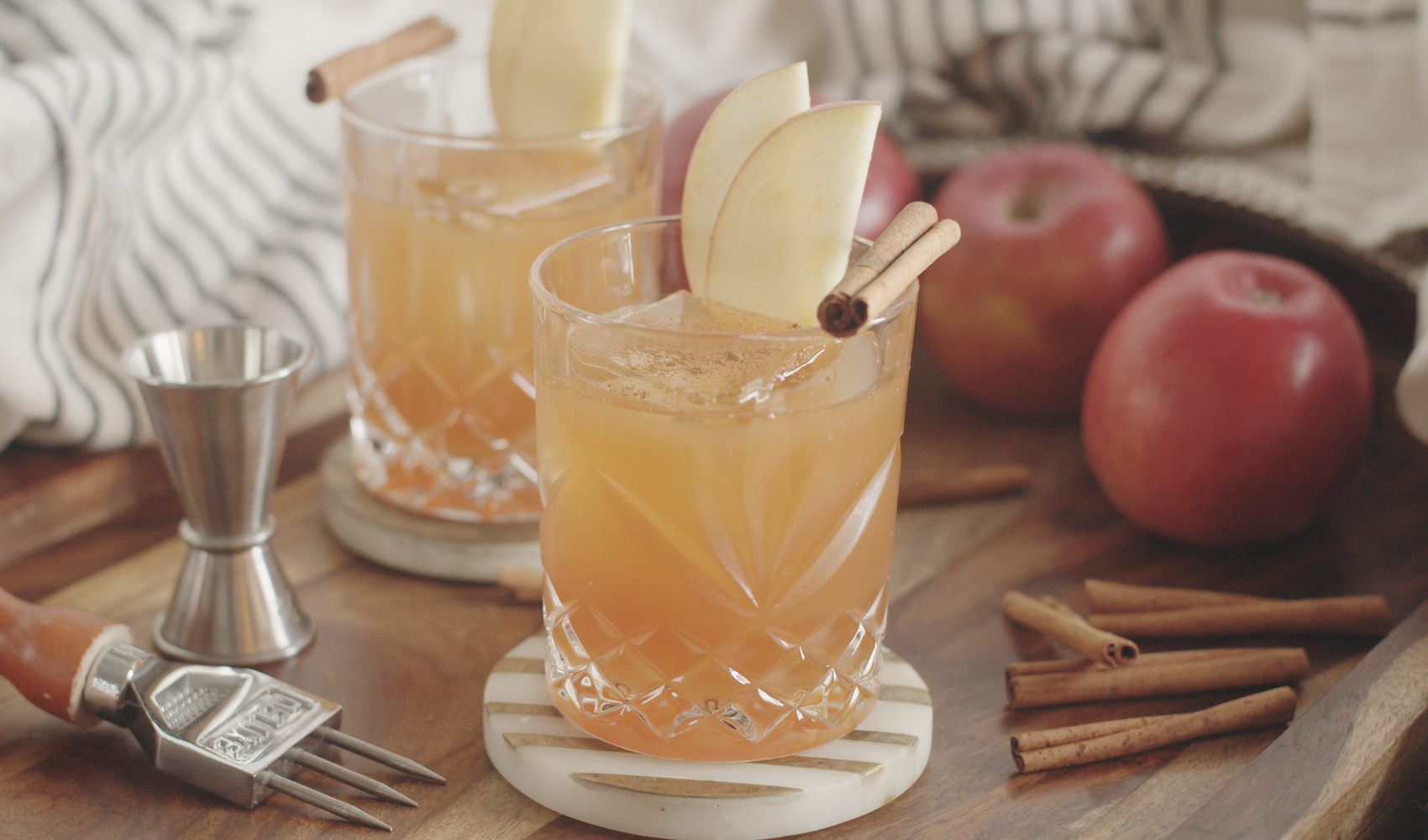 Apple Cider Old Fashioned Cocktail