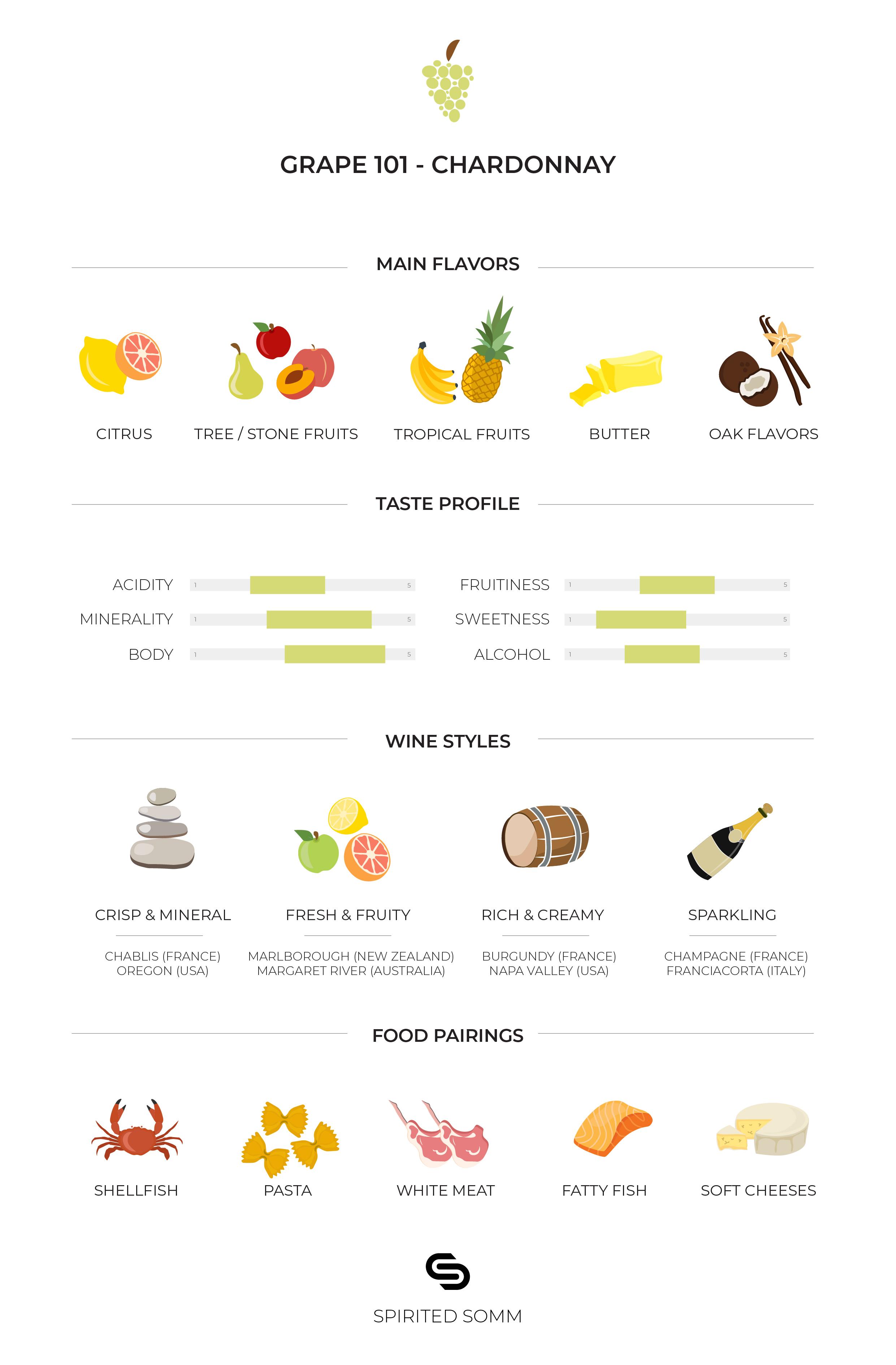 Grape Infographic: Chardonnay